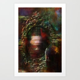 The haunted mirror Art Print