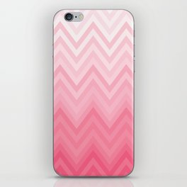 Fading Pink Chevron iPhone Skin
