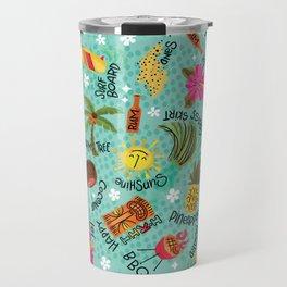It's A Tiki Party! Travel Mug