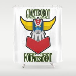 manga robots: grendizer for president Shower Curtain