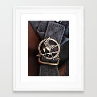 mockingjay Framed Art Prints featuring Mockingjay by AndyGD