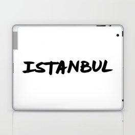 'Istanbul' Turkey Hand Letter Type Word Black & White Laptop & iPad Skin