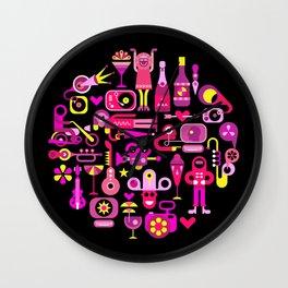 Celebration Party round illustration Wall Clock