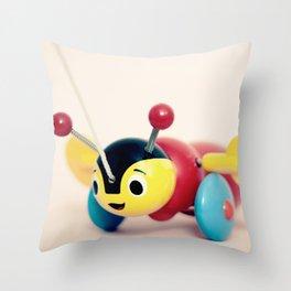 Buzzy Bee Throw Pillow
