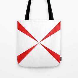 Simple Construction Red Tote Bag