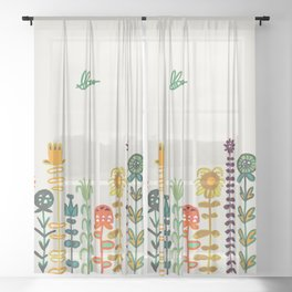 Happy garden Sheer Curtain