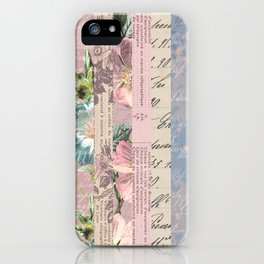 Vintage Shabby Florals iPhone Case