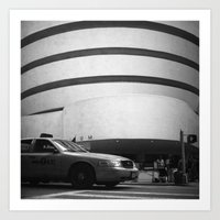 taxi // film // Art Print
