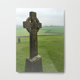 Celtic Cross - Rock of Cashel, Tipperary, Ireland Metal Print