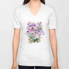 Lavender Mini Fleurs Unisex V-Neck
