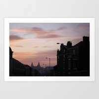 liverpool Art Prints featuring Liverpool by Miriam Sauter