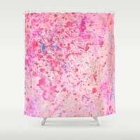 blush Shower Curtains featuring Blush by Candy Circles