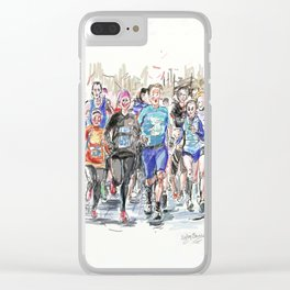 Runners Jogging Clear iPhone Case