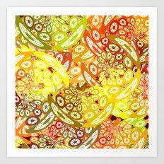 Fruity geometric abstract Art Print