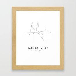 Jacksonville, FL Framed Art Print