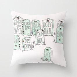 Graveyard Girls Throw Pillow