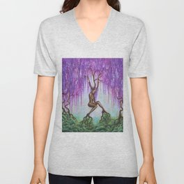 Whispers of Wisteria Unisex V-Neck