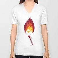 phoenix V-neck T-shirts featuring Phoenix by Picomodi