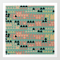 triangles Art Prints featuring triangles by spinL