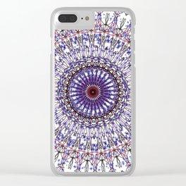 Blue porcelain Clear iPhone Case