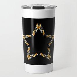 A decorative Celtic fractal flower in metallic colors Travel Mug