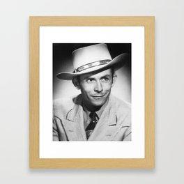 Old Hankie Williams Framed Art Print