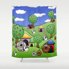 Billy, Bob & Fido.  Shower Curtain