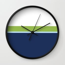 Minimal Abstract Blue White Green 02 Wall Clock