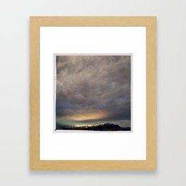 bridgers and clouds Framed Art Print