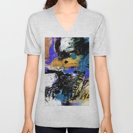 Jazzy Emotions No.1H by Kathy Morton Stanion Unisex V-Neck