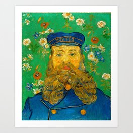 Vincent van Gogh - Portrait of Postman Art Print