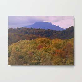 Fall Mountain Sunset Metal Print