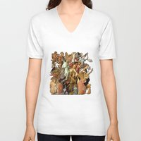 angels V-neck T-shirts featuring Angels by Vesna Bursich