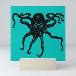 From the Deep Aqua - Octopus by Seasons Kaz Sparks Mini Art Print