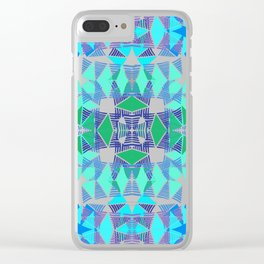 Colorful Tropical Abstract Zenspire Geometrical Pattern 3 Clear iPhone Case