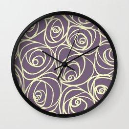 Roses 2 Wall Clock