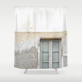 Grunge Window Shower Curtain