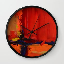 Free Mind - Square version - by Elise Palmigiani Wall Clock
