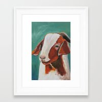 goat Framed Art Prints featuring Goat  by Thistlendixie