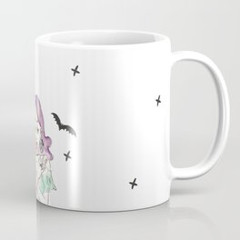 Gypsy Gothic Bat Girl - Lace Skirt Coffee Mug