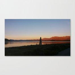 Sunset at Lake Tekapo Canvas Print