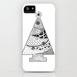 Doodle Christmas Tree iPhone Case