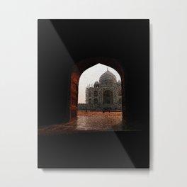 Taj Mahal door - 190 Metal Print