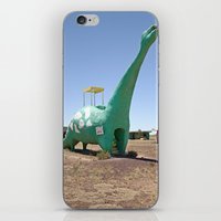 dino iPhone & iPod Skins featuring dino by Natalie Jeffcott