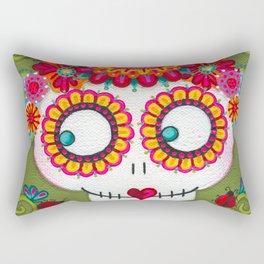 Catrina with Ladybugs Rectangular Pillow