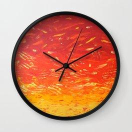 UFO SUNSET Wall Clock