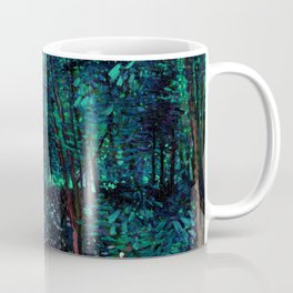 Vincent Van Gogh Trees & Underwood Teal Green Coffee Mug