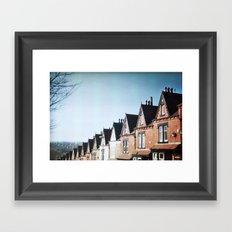 Terrace Houses Framed Art Print