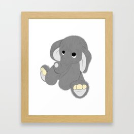 Stuffed Elephant Framed Art Print