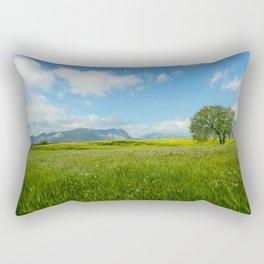 A blend of landscape Rectangular Pillow